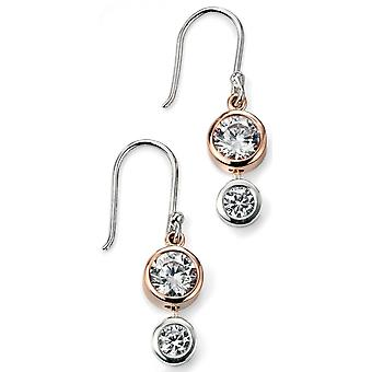 925 Silver Rose Gold Plated Zirconium Earring Trend