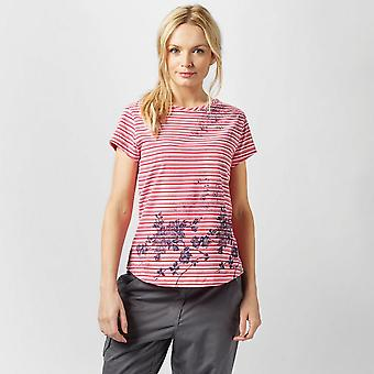 New Peter Storm Women's Striped Floral Tee Pink