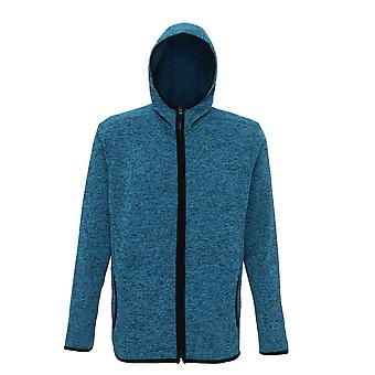 Tri Dri Mens Melange Knit Fleece Jacket
