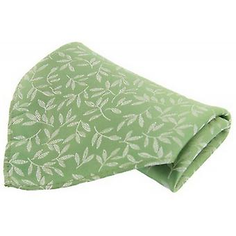David Van Hagen Leaf Silk Handkerchief - Mint