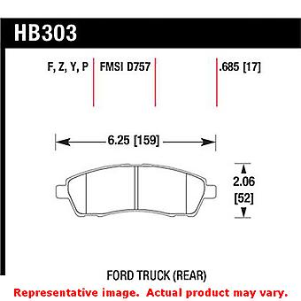 Hawk Truck/SUV Brake Pads HB303Y.685 Fits:FORD 2000 - 2005 EXCURSION  Position:
