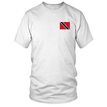 Trinidad And Tobago Country National Flag - Embroidered Logo - 100% Cotton T-Shirt Ladies T Shirt