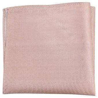 Knightsbridge Neckwear Ribbed Silk Pocket Square - Beige