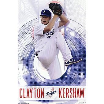 Los Angeles Dodgers - C Kershaw 14 Poster affisch Skriv