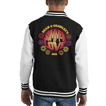 Supernatural Dean And Crowleys Summer Of Love Kid's Varsity Jacket