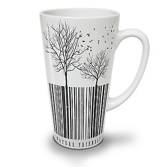 Nature Friendly Code NEW White Tea Coffee Ceramic Latte Mug 17 oz | Wellcoda