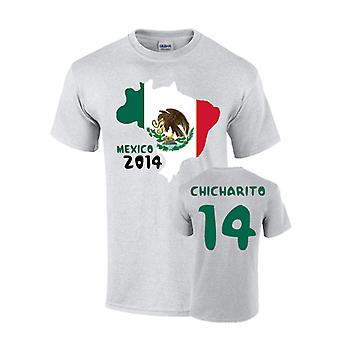 T-shirt Flag Messico 2014 paese (chicharito 14)