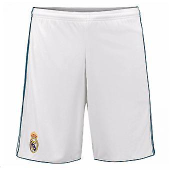 2017-2018 real Madrid Adidas hjemme Shorts (hvid)
