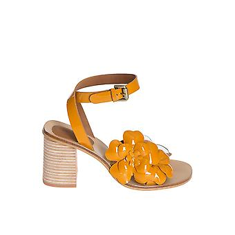 See by Chloé women's SB28202202 yellow leather sandals