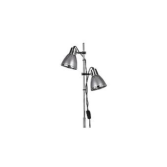 Elvis Silver And Chrome Adjustable Floor Lamp - Ideal Lux 42794
