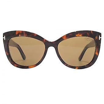 Tom Ford Alistair Sunglasses In Red Havana Polarised