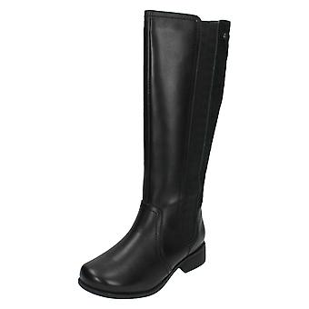 Ladies Padders Wide Fitting Mid Calf Length Long Boots Myra