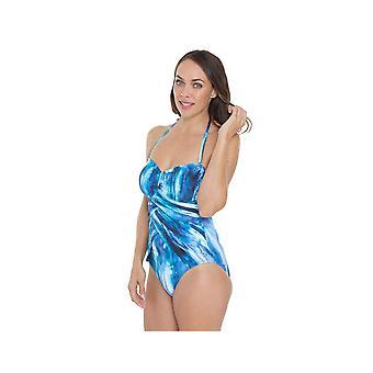 Seaspray SY007034 Women's Blue Tie-Dye Costume One Piece Swimsuit