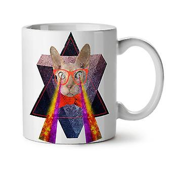 Laser ojos Geek gracioso nuevo té blanco taza de café de cerámica 11 oz | Wellcoda