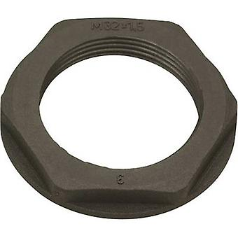Locknut with flange PG36 Polyamide Black (RAL 9005) Helukabel KMK-PA 96462 1 pc(s)