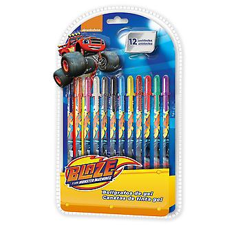 Blaze and The Monster Machines colorful gel pen - 12 pcs