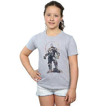 Marvel Girls Avengers Infinity War Thanos Sketch T-Shirt