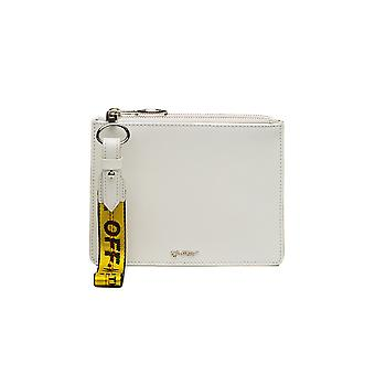 Off-white women's OWNA048S184231340100 White leather clutch