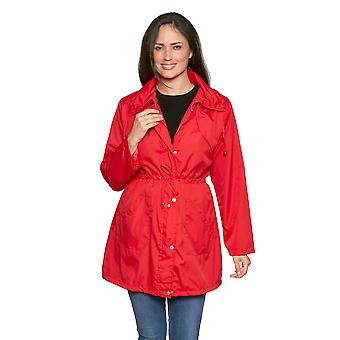 Ladies drawstring lightweight polyester jacket DB23