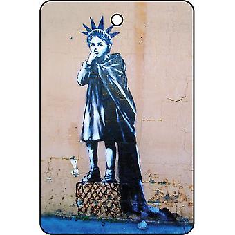 Banksy Liberty Girl Car Air Freshener