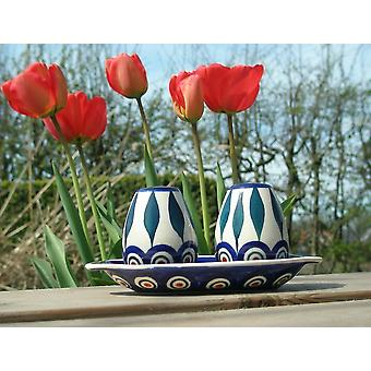 Salt + pepper set with pedestal, tradition 10, BSN m-3132