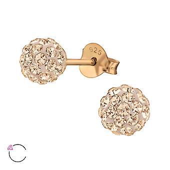 Crystal Ball crystal from Swarovski® - 925 Sterling Silver Ear Studs
