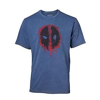 Deadpool Classic Style Guide T-Shirt Faux Denim T-Shirt XXL Blue TS551101DEA-2XL
