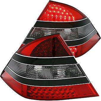 Anzo USA 321118 Mercedes-Benz Red/Smoke-Black Center LED Tail Light Assembly - (Sold in Pairs)