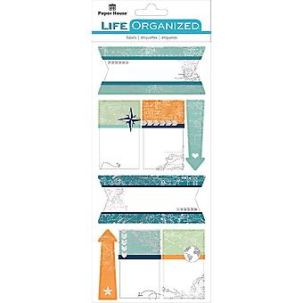 Paper House Life Organized Label Stickers-Travel