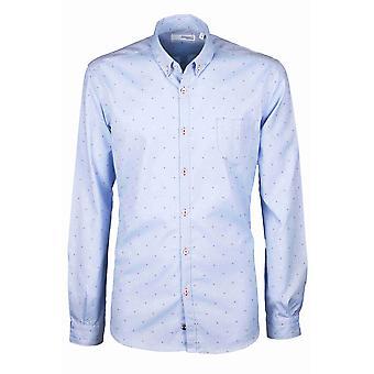 Fabio Giovanni Masseria Shirt - Classic Oxford Shirt - Italian Cotton with Tiny Flowers