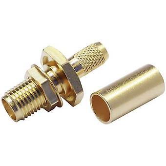SMA connector Socket, straight 50 Ω Telegärtner J01151A0541