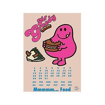 Г-н жадных металлический знак / Вечный календарь