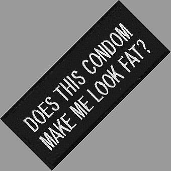 ¿Este condón Me hace ver gorda? Hierro-/ coser en parche