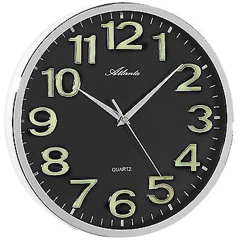 Atlanta wall clock numerals self-luminous quartz