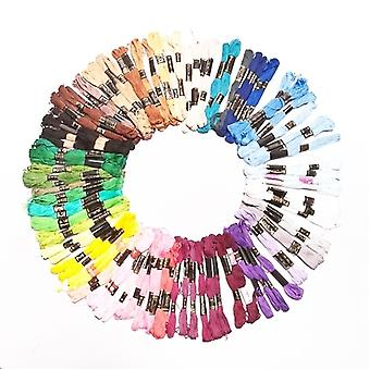 100 Pieces of Mixed Colours Thread Skeins Floss 100% Cotton - for Embroidery Sewing