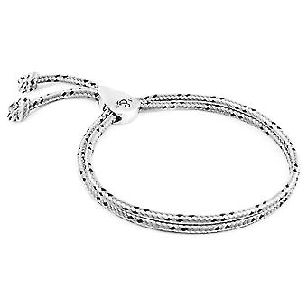 Anchor & Crew Grey Dash Pembroke Silver and Rope Bracelet