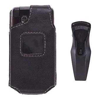 Wireless Solutions Fitted Leather Case for Samsung R460 MyShot II - Black