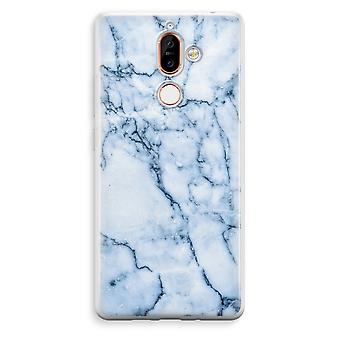 Nokia 7 Plus Transparent Case (Soft) - Blue marble