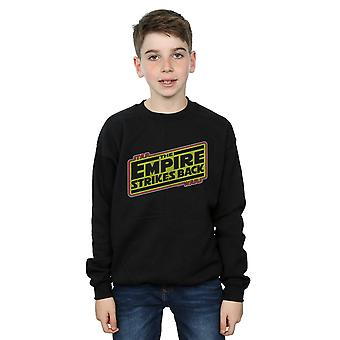 Star Wars Boys The Empire Strikes Back Logo Sweatshirt