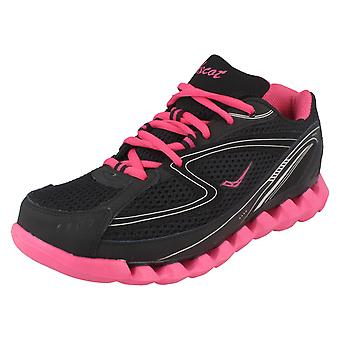 Ladies Ascot Casual Lace Up Trainers Spring Wave