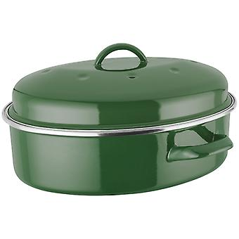 Judge Induction, Green Oval Roaster, 5.2 Litre