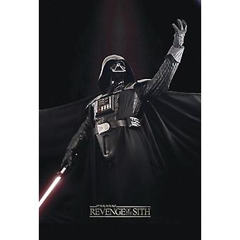 Star Wars Episode III poster revenge of the Sith Darth Vader in winning pose