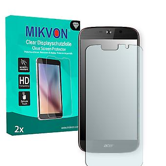 Acer Liquid Jade 2 Screen Protector - Mikvon Clear (Retail Package with accessories) (intentionally smaller than the display due to its curved surface)