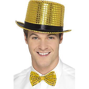 Sequin Top Hat, Gold