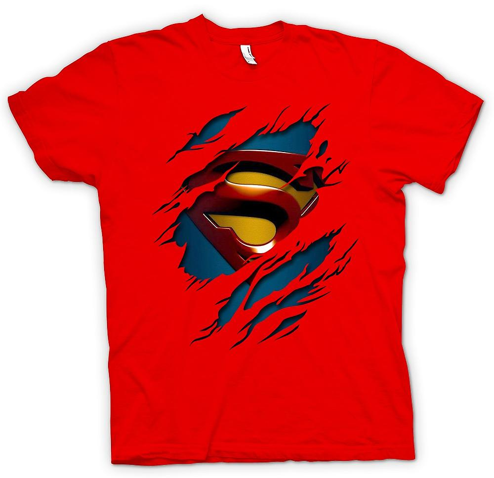 Mens T-shirt - Superman Under Shirt Effect - Action - Superhero