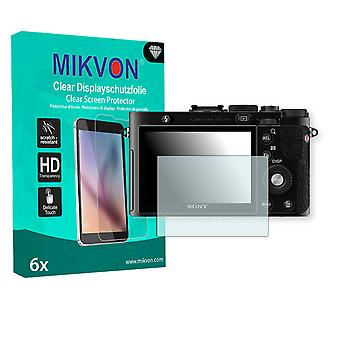 Sony DSC-RX1 Screen Protector - Mikvon Clear (Retail Package with accessories)