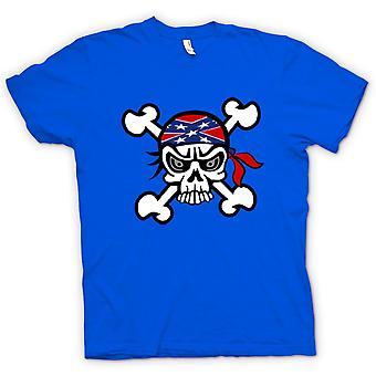 Womens T-shirt-skalle med Bandana & Cross Bones