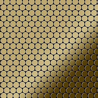 Metal mosaic Titanium ALLOY Penny-Ti-GM