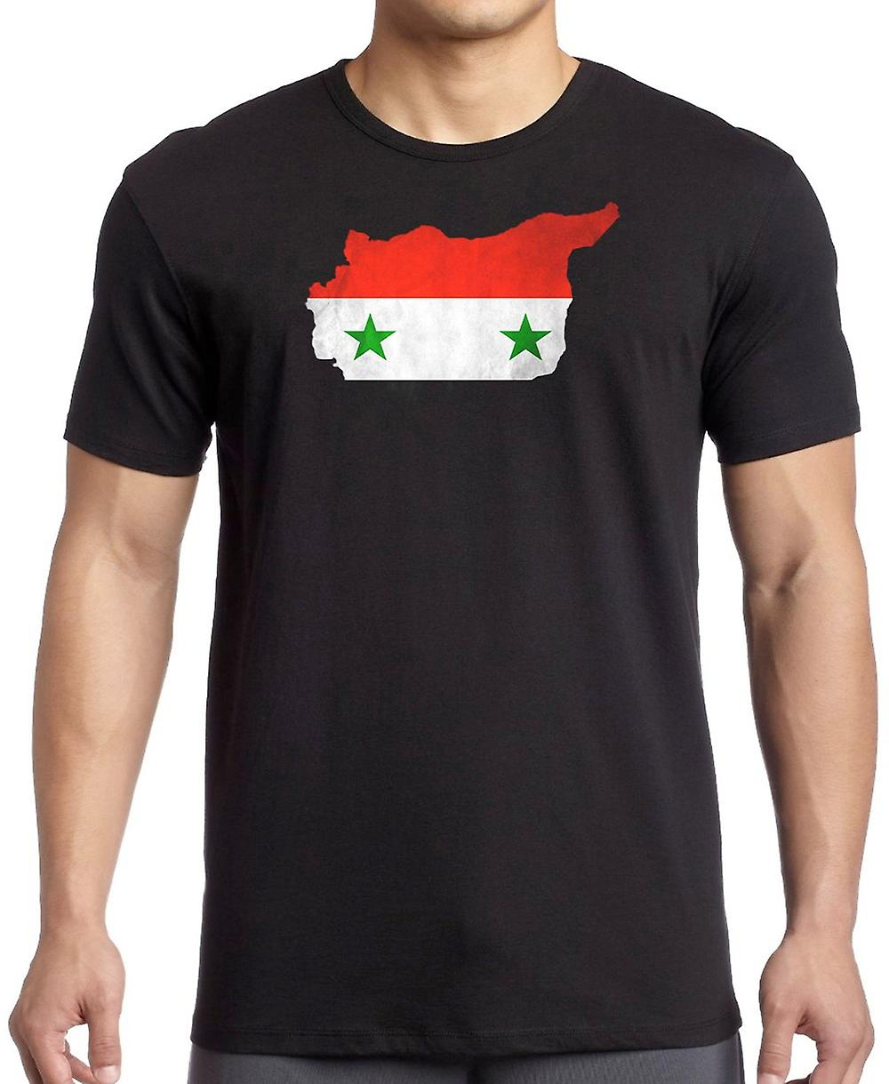 Syria Flag Map Kids T Shirt