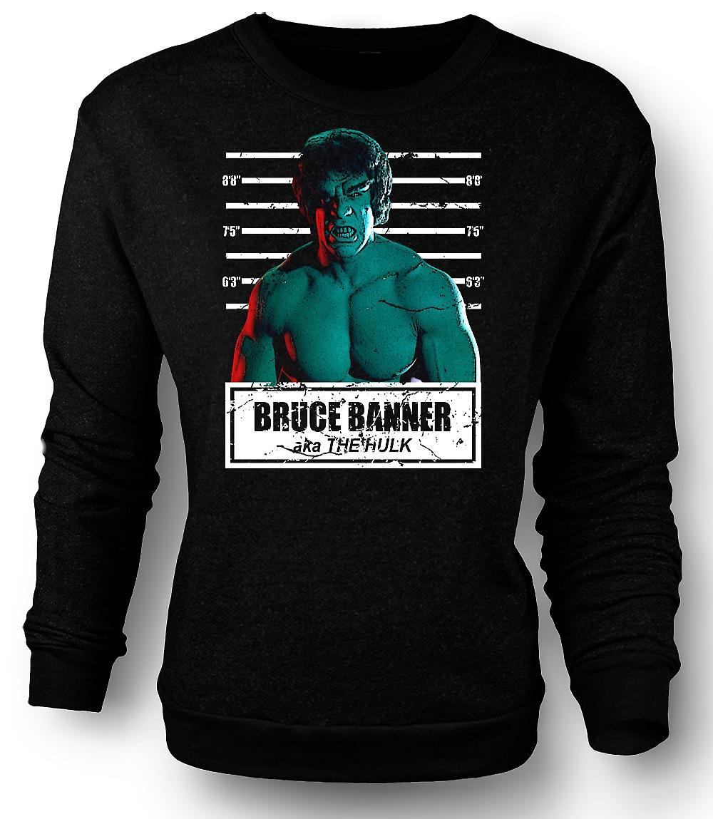 Mens Sweatshirt Hulk - David Banner - Mug Shot